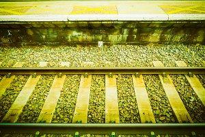 Railway railroad track vintage retro