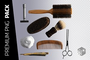 8 BARBER'S KIT PNG IMAGES