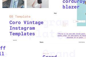 Coro Vintage Instagram Templates