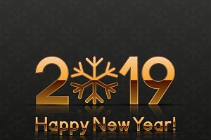 2019 New Year Greeting Cards