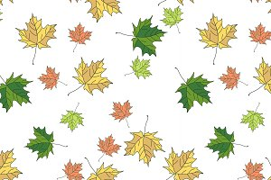 Seamless pattern of autumn