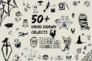 Hand Drawn Horror Objects