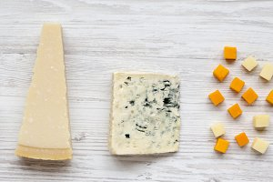 Assortment of different cheese