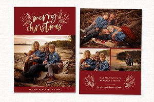 Christmas Card Template CC233