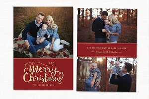 Christmas Card Template CC234