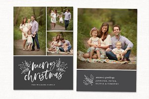 Christmas Card Template CC236