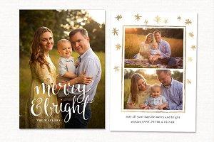Christmas Card Template CC237