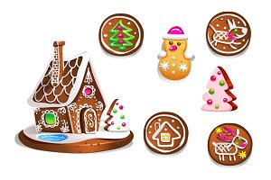 Ginger bread. New Year cookies