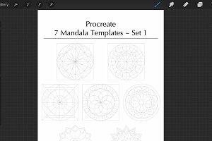 Procreate Mandala Templates Set 1