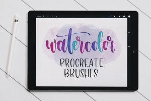 Watercolor Lettering Brushes
