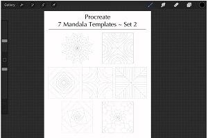 Procreate Mandala Templates Set 2
