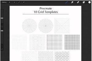 Procreate Grid Templates .brushset