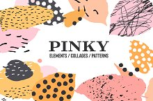 """Pinky"" Abstract Collection by  in Patterns"