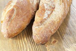 fresh light-colored bread