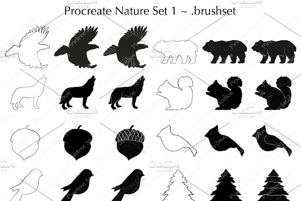 Procreate Nature Set 1 Stamps