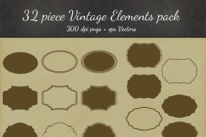 8 Vintage Frame Designs - 32 Pieces