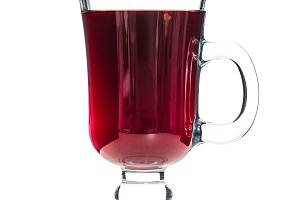 Mulled wine isolated white backgroun