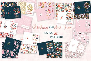 Christmas cards and patterns