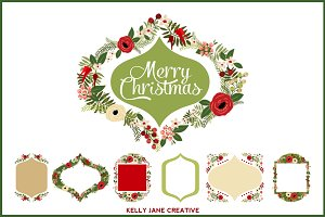 Christmas Wreaths & Frames - Vector