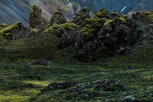 Beautiful Landmannalaugar landscape