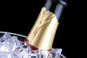 Bottle Champagne in Ice Bucket
