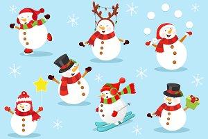 Cute Snowman Set Vol.2