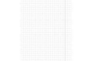 Standart notebook sheet vertical