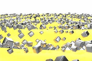 Silver or white gold platinum blocks