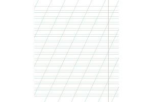 A sheet of school notebook in a