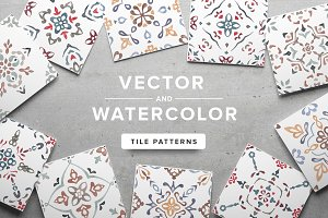 Watercolor/Vector Tile Patterns