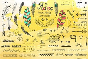 Aztec Hand Drawn Set