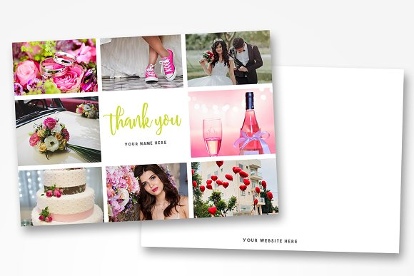 photographer thank you card template card templates creative market