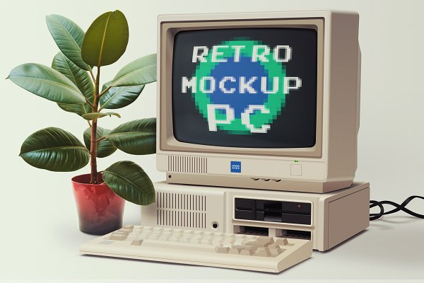 Product Mockups: NawrasKhrais - Retro PC