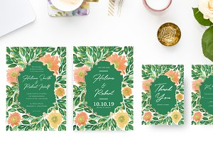 Greenery Wedding Suite Invitations
