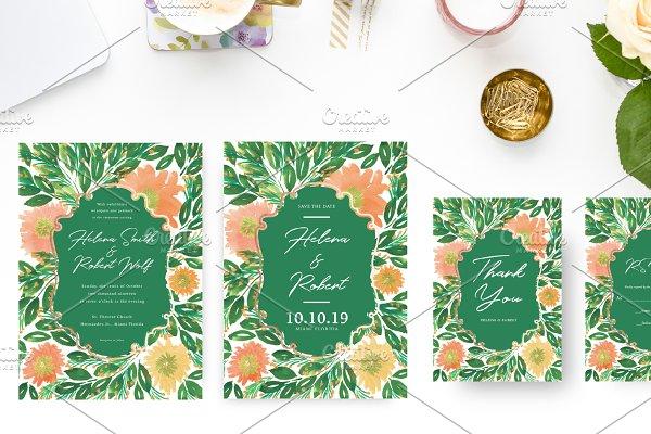 Greenery Wedding Suite Invitations