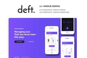 Deft One Page WordPress Theme