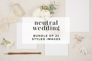 Neutral Wedding Stock Bundle