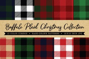 Buffalo Plaid Christmas Patterns