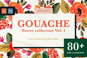 Gouache Flower Collection Vol. 1