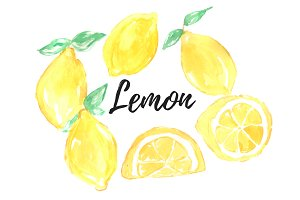Watercolor Lemon Clipart