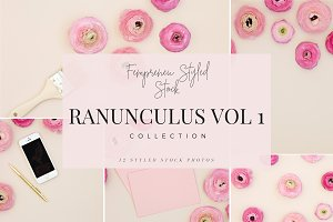Ranunculus Stock Photo Bundle Vol 1