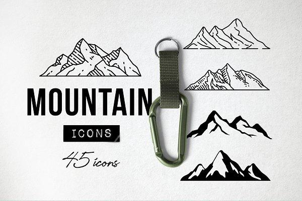 45 Mountain Icons - Logo Icons