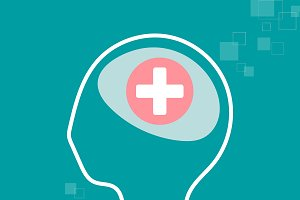 Mental health & healthy mind vector