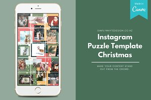 Instagram Puzzle Template Christmas