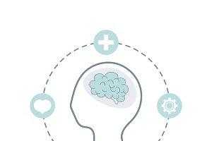 Mental health awareness icon vector