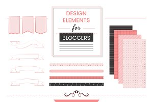 Set of design elements for bloggers