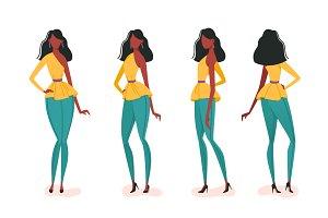 Various girl poses