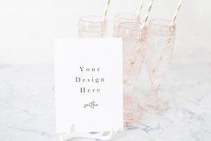 Wedding Menu Card Mockup