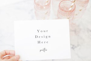 Party Card Photography Mockup