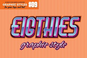 10 Eighties Decade Graphic Style